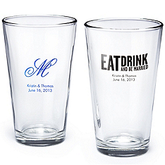 wedding pint glasses