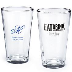 wedding pint glasses