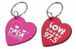 aluminum heart key tag