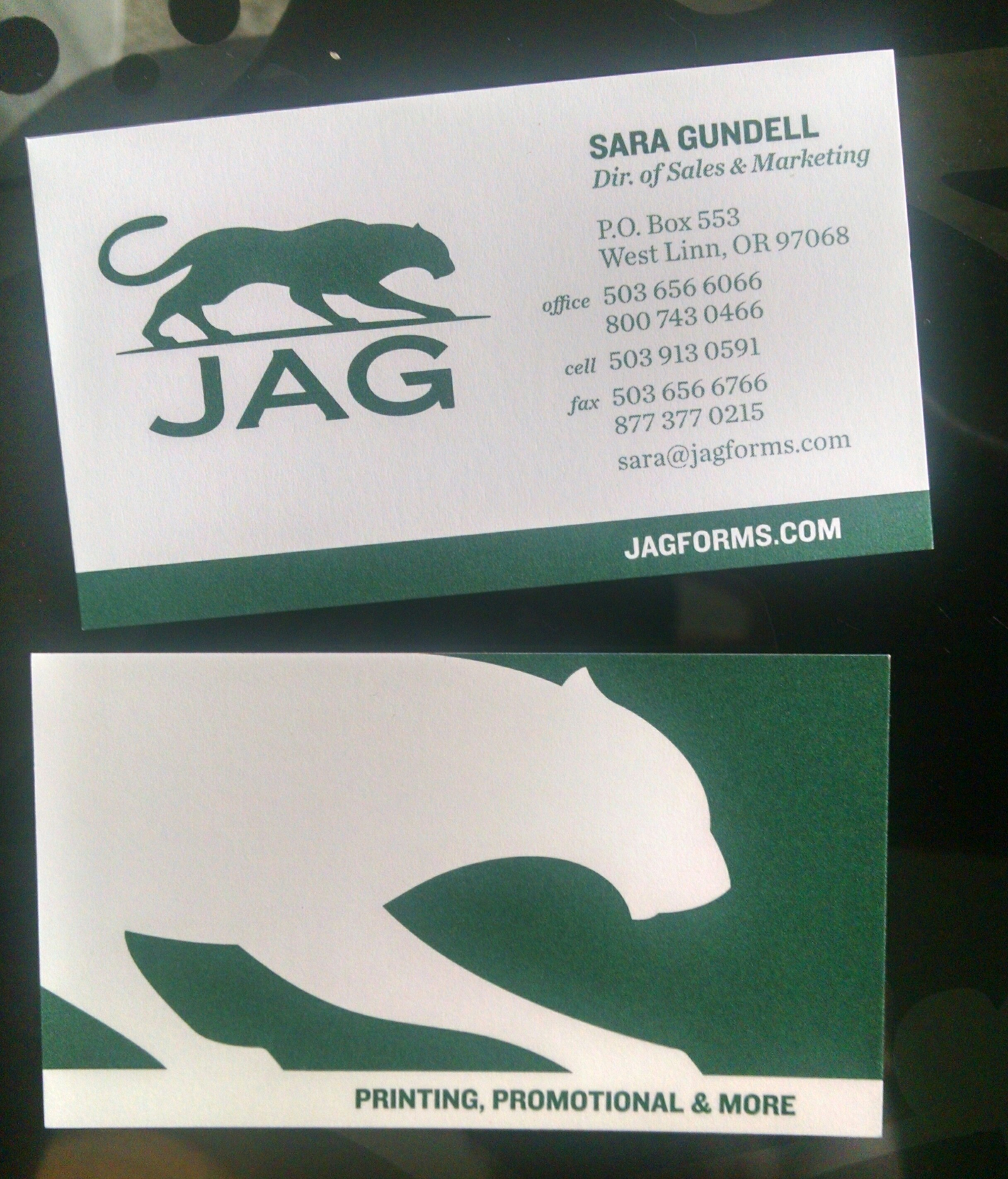 Business cards splurge vs conserve jag forms jag biz cards colourmoves Image collections