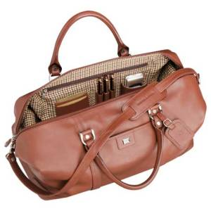 cutter and buck leather weekender