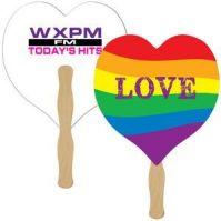 pride heart fan