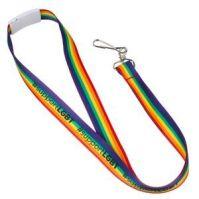 rainbow lanyard